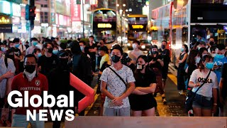 Hong Kong protests continue in defiance of face mask ban