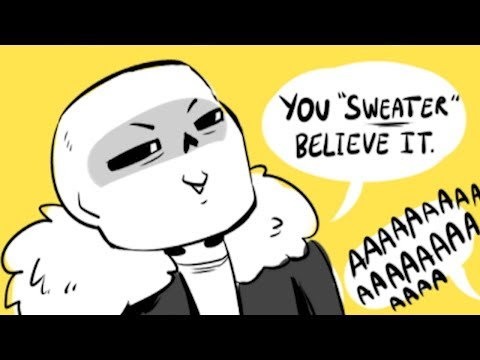 SANS PUNS MAKE SURE YOU CAN'T WATCH PAST 15 SECONDS WITHOUT LAUGHING! (Undertale Comic Dub S)