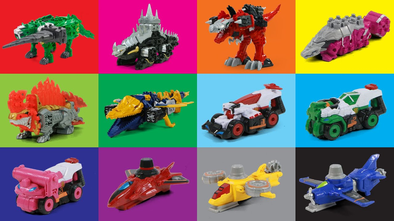 PowerRangers DinoSoul VS Lupin Force VS Patrol Force All DinoKnights VS Vehicles
