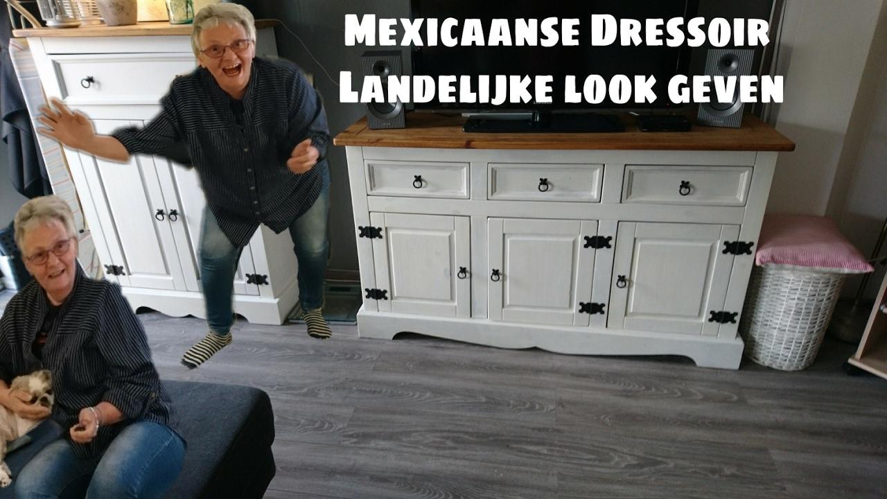 Dressoir een landelijke look geven! kast pimpen bewerken meubels