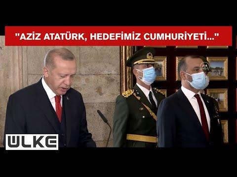 Cumhurbaşkanı Recep Tayyip Erdoğan Anıtkabir'de