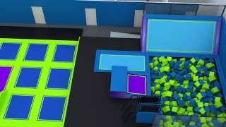 3D Walkthrough Video of Rebound Trampoline Park