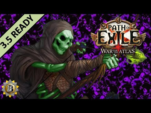 [3.4] Caustic Arrow Build - Pathfinder Ranger - Path of Exile War For The Atlas - Delve