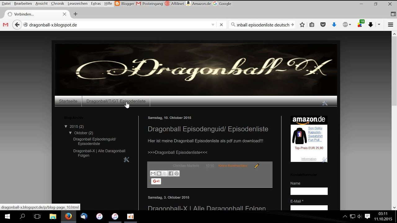 Dragonball Episodenguide