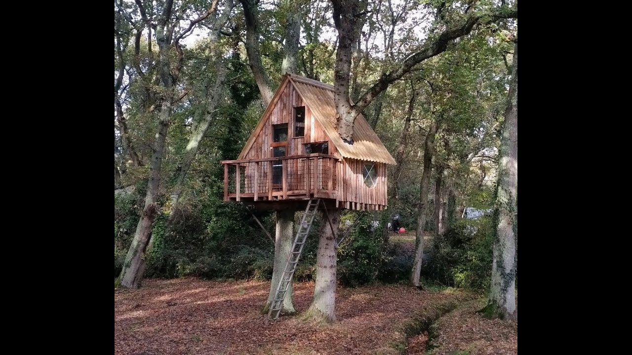 Awesome Pallet Tree House From Reclaimed Materials Youtube