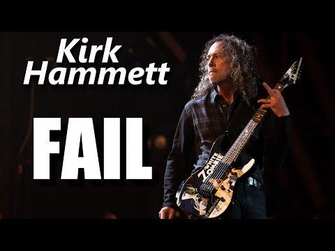 Kirk Hammett FAIL┃RockStar FAIL