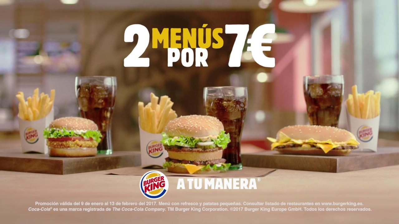 Burger King 2 Menús Por 7 Youtube