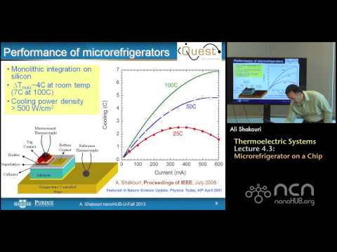 nanoHUB-U Thermoelectricity L4.3: Thermoelectric Systems - Microrefrigerator on a Chip