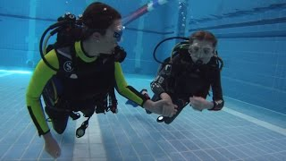 Friendly Divers - First time Diving of two wonderfull young Scuba Diver Girls