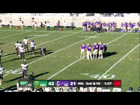 Football vs rocky Mountain College
