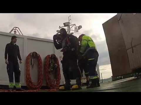 Commercial Diving  Bridge construction Tresfjord