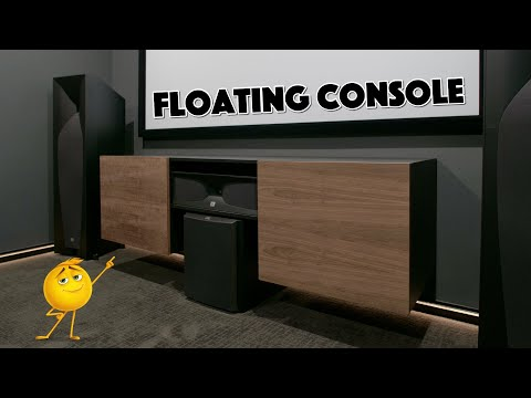 Modern Floating Media Console - Free Plans