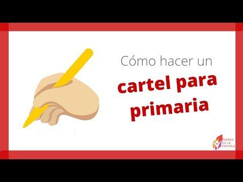 Como hacer un cartel para la clase de español en la primaria