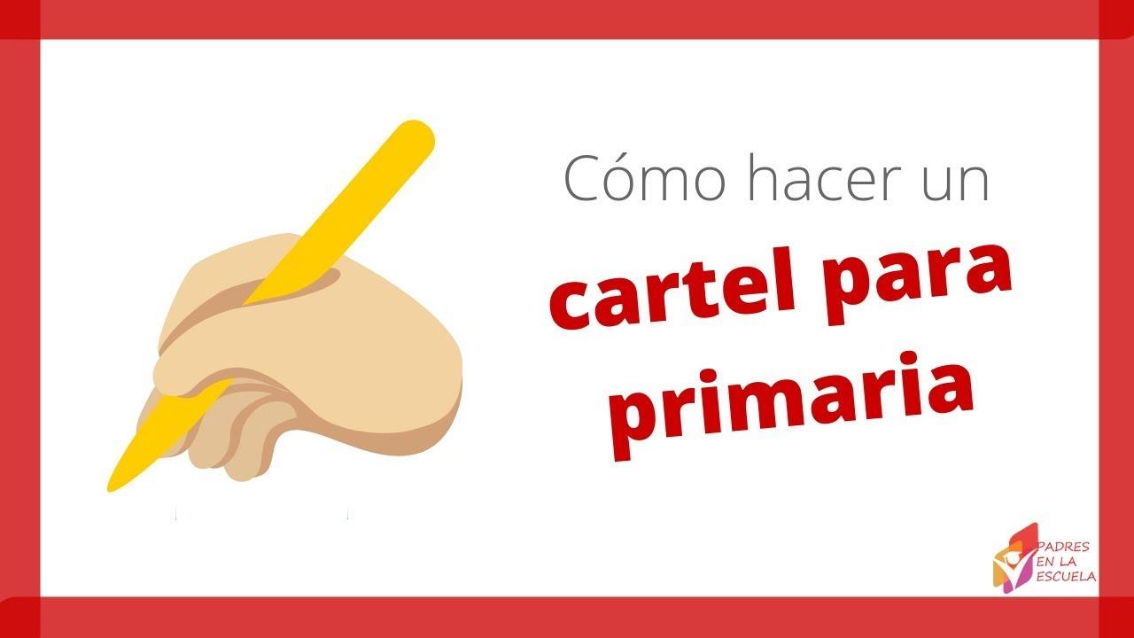 como hacer un cartel para la clase de español en la primaria youtube