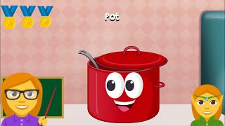 Peekaboo Kids Kitchen - Toddler First Words Learning - Free Online