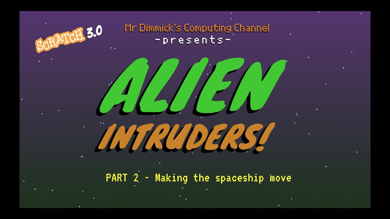Download Space Invaders in Scratch! Alien Intruders 2/9 - Controlling the spaceship - Make a retro game!