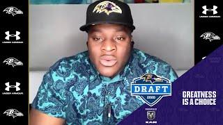 Justin Madubuike's Draft Night Press Conference | Baltimore Ravens