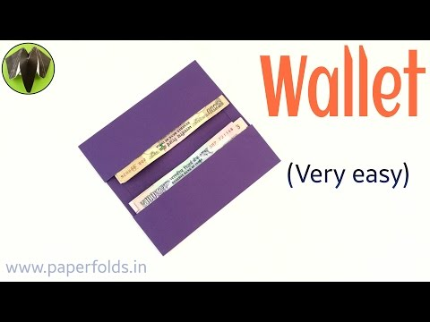 """How to make a super easy Paper """"Wallet 💵 """" - Useful Origami / Craft tutorial for everyone 🙏😊"""