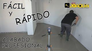 LA MANERA MAS SENCILLA Y RÁPIDA DE NIVELAR TU SUELO (por inundación)