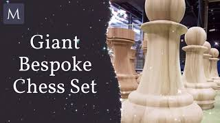 Wood Turning - giant chess pieces