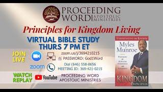 2020_0910 PWAM Bible Study: Kingdom Principles - Chapter 1 - Kingdom Priorities
