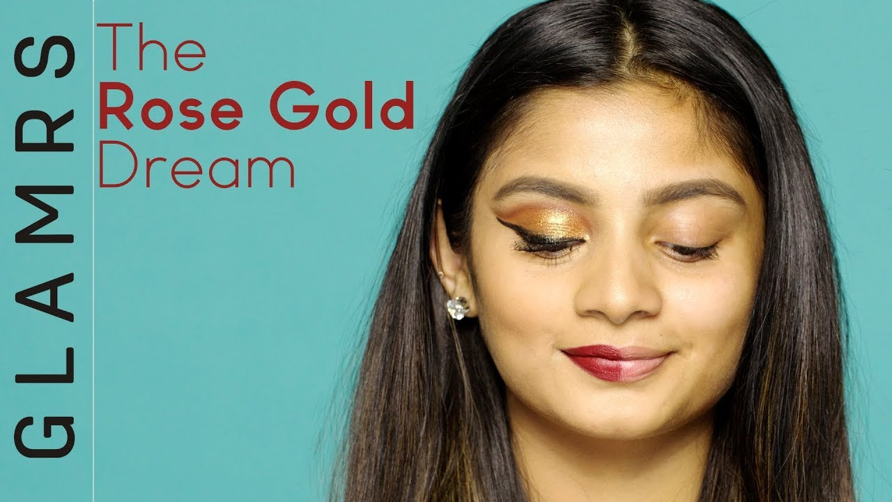 Rose gold makeup tutorial for beginners indian festive look the rose gold makeup tutorial for beginners indian festive look the power of makeup baditri Choice Image