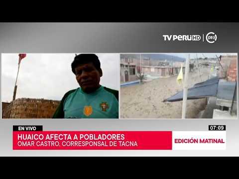 Tacna: población teme que huaico afecte sus enseres