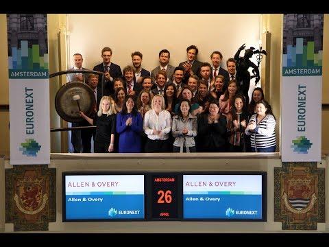 Allen & Overy opent de handelsdag