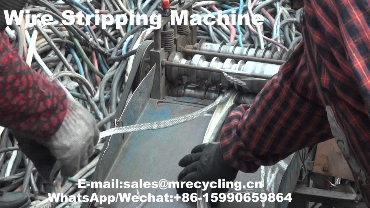 wire stripping machine canada video mp4 - YouTube