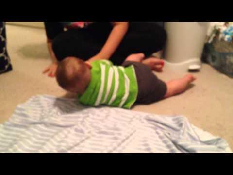 Jaxson rolls over