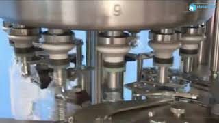 APFL-12C6 Rotary Level Filler by neck hold