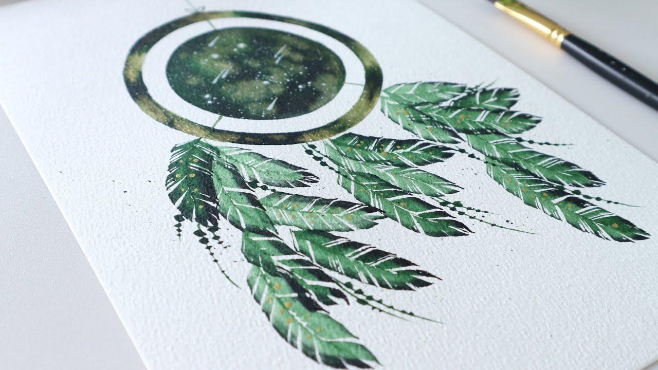 ART#26 | Vẽ Dreamcatcher bằng màu nước | Watercolor Tutorial | Dreamcatcher