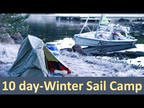 10 days Winter Sail Camping - Sailing Norway