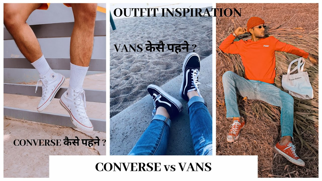 [VIDEO] - Converse Vs Vans ( 4 Outfits , You Decide ) | Fall Outfits | Men's Fashion | Hotstuff Tv 8