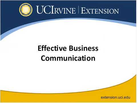 Effective Business Communication: A Corporate Training Webinar Series (8/29/2013)