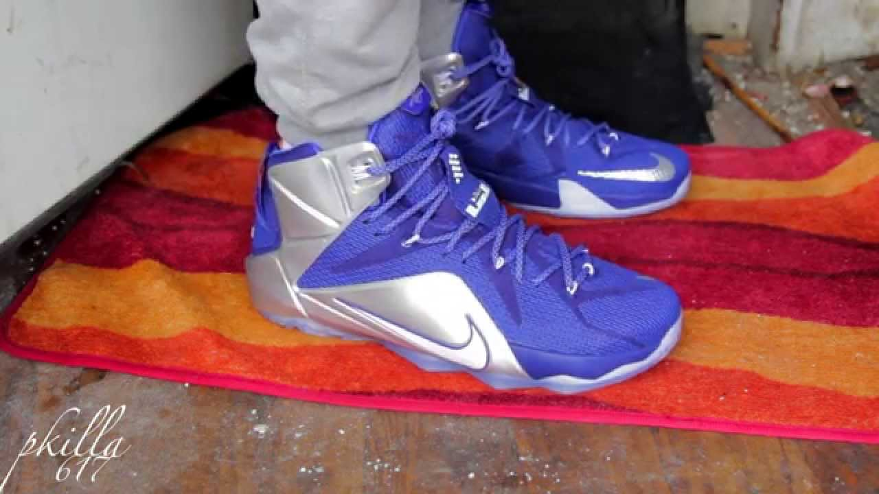 the best attitude 61ee2 6a230 LeBron 12 What If On Feet Video Cowboys color way.. - YouTub