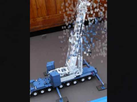 Assembly Of A 1 87 Liebherr LTM 1400 Model Crane