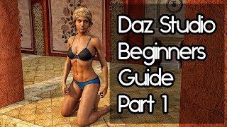 Daz Studio Beginners Tutorial - Part 1