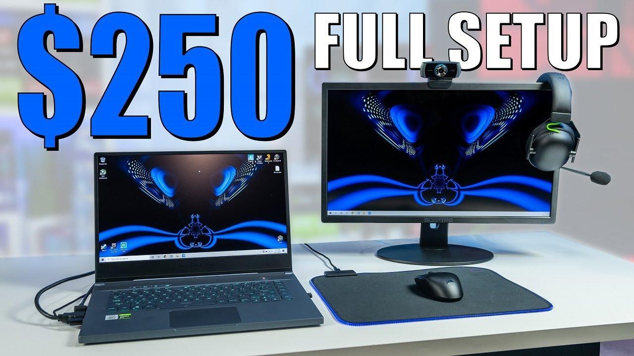 $250 LAPTOP Gaming/Streaming Setup!