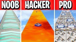 He made a NOOB vs PRO vs HACKER Deathrun! (Fortnite Creative)