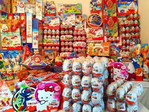 Видео: 1500 Киндер Сюрпризов - Моя Коллекция 1500 Kinder Surprise Eggs My Super Giant Collection