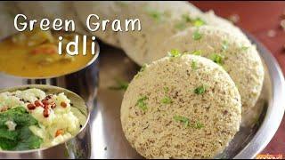 green gram idli breakfast recipe moongdal idli ventuno home cooking
