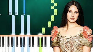 Lana Del Rey - Norman Rockwell (Piano Tutorial Easy) By MUSICHELP