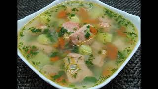 Уха из красной рыбы. Простой рыбный суп. Simple Red Fish Soup - Дар Еда.