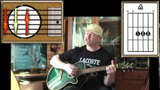 Cotton Fields - Creedence Clearwater Revival - Acoustic Guitar Lesson (detuned - easy)