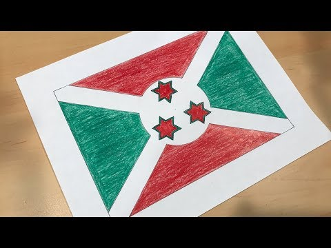 How to Draw the Burundian Flag | Flag Speed Draw