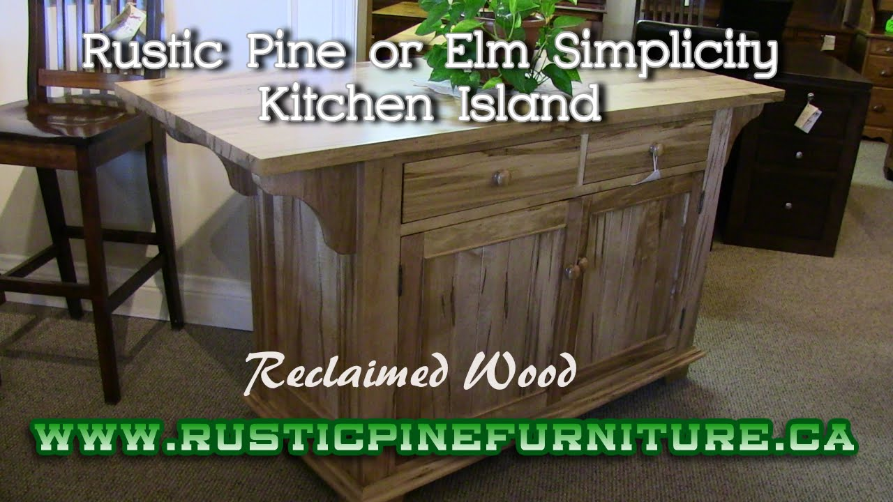 Rustic Pine Simplicity Kitchen Island From Reclaimed