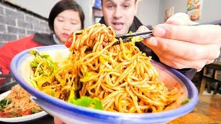 We're Going to SRI LANKA!!! SO PUMPED!!! + HUGE BOWL Chinese Street Food Dan Dan Noodle in Chengdu!
