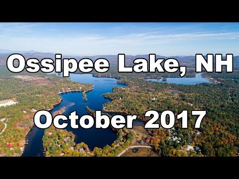 Fall Foliage at Ossipee Lake, NH October 2017 Drone Video