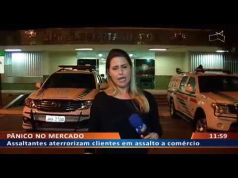 DF ALERTA - Assaltantes aterrorizam clientes em assalto a comércio